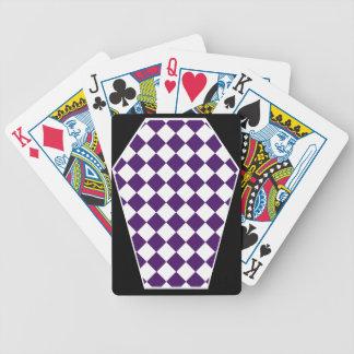 Cartes de jeu enes ivoire de Damier (indigo) Cartes De Poker
