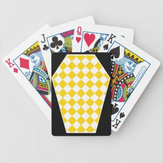 Cartes de jeu enes ivoire de Damier (or) Jeu De Poker