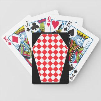 Cartes de jeu enes ivoire de Damier (rubis) Jeu De 52 Cartes