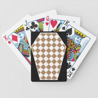 Cartes de jeu enes ivoire de Damier (Tan) Jeu De 52 Cartes