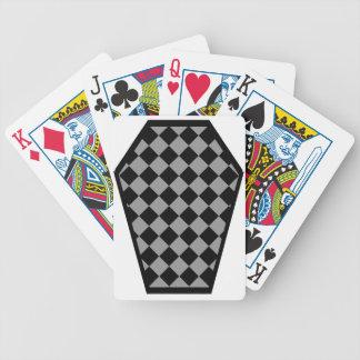 Cartes de jeu (grises) de bois d'ébène de Damier Jeux De 52 Cartes