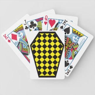 Cartes de jeu (jaunes) de bois d'ébène de Damier Cartes De Poker