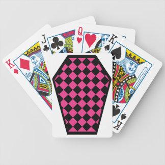 Cartes de jeu (magenta) de bois d'ébène de Damier Jeux De Poker