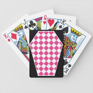 Cartes de jeu (magenta) enes ivoire de Damier Jeux De 52 Cartes