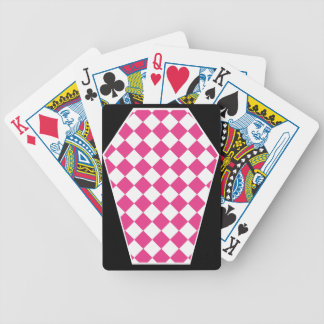 Cartes de jeu (magenta) enes ivoire de Damier Cartes De Poker