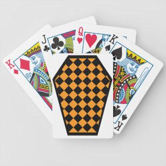 Cartes de jeu (oranges) de bois d'ébène de Damier Cartes Bicycle Poker