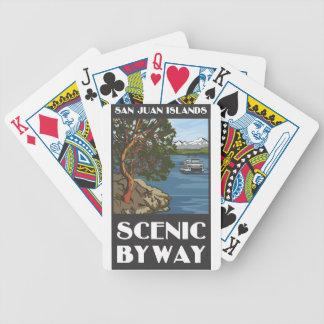 Cartes de jeu pittoresques de chemin détourné d'îl jeu de 52 cartes