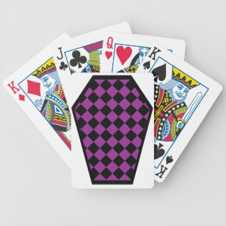 Cartes de jeu (pourpres) de bois d'ébène de Damier Jeu De Cartes Poker