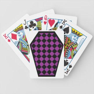 Cartes de jeu (pourpres) de bois d'ébène de Damier Cartes De Poker