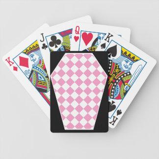 Cartes de jeu (roses) enes ivoire de Damier Jeux De Cartes Poker