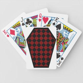 Cartes de jeu (rouges) de bois d'ébène de Damier Cartes À Jouer