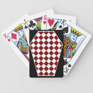 Cartes de jeu (rouges) enes ivoire de Damier Jeux De Cartes Poker