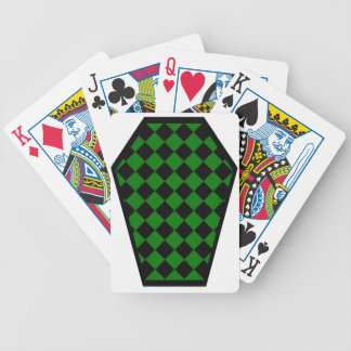 Cartes de jeu (vertes) de bois d'ébène de Damier Jeux De 52 Cartes