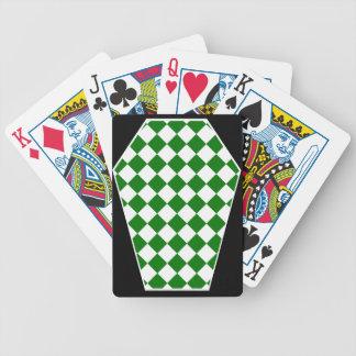 Cartes de jeu (vertes) enes ivoire de Damier Jeux De Cartes