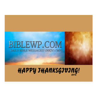 CARTES DE JOUR DE THANKSGIVING DE BIBLEWP.COM™ CARTES POSTALES