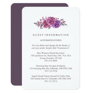 Cartes de l'information d'invité de Boho Carton D'invitation 8,89 Cm X 12,70 Cm