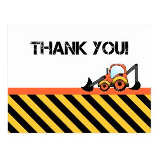Cartes de Merci de construction Carte Postale