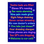 Cartes de Noël drôles d'infirmière