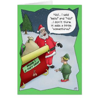 Cartes de Noël drôles Dur de l audition