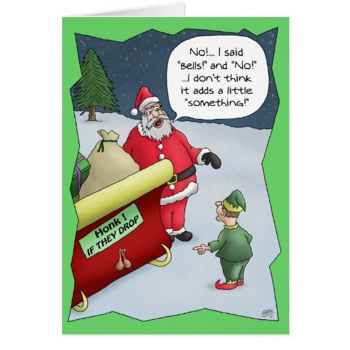 Cartes de Noël drôles : Dur de l'audition