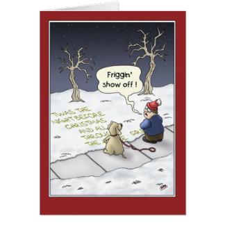 Cartes de Noël drôles Flux stationnaire