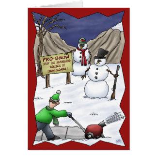 Cartes de Noël drôles : Pro-Neige