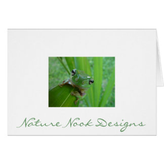 Cartes de note de grenouille
