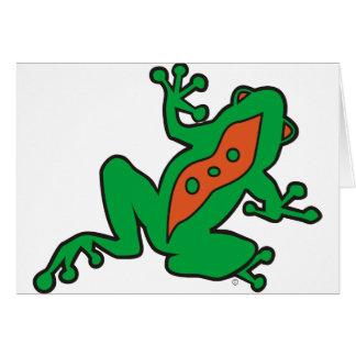 Cartes de note de grenouille de KSF