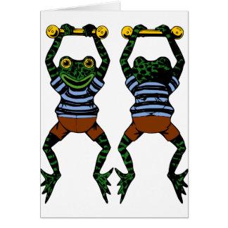 Cartes de note de grenouilles d'acrobate