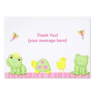 Cartes de note de Merci de grenouille de contes de Carton D'invitation 12,7 Cm X 17,78 Cm