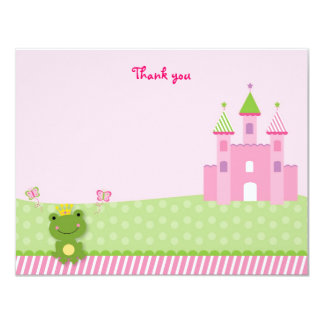 Cartes de note de Merci de princesse Frog Castle Carton D'invitation 10,79 Cm X 13,97 Cm