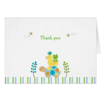 Cartes de note de Merci de tortue de grenouille d'