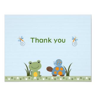 Cartes de note de Merci de tortue de grenouille de Carton D'invitation 10,79 Cm X 13,97 Cm