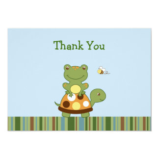 Cartes de note de Merci de tortue de grenouille Carton D'invitation 12,7 Cm X 17,78 Cm