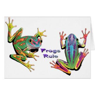 Cartes de note de règle de grenouilles