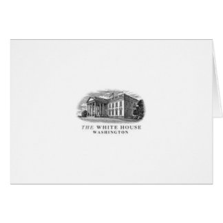 Cartes de note gravées par Maison Blanche classiqu