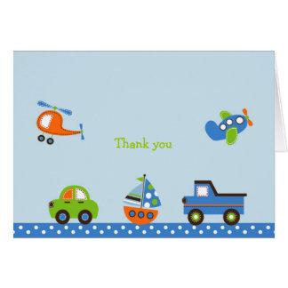 Cartes de note minuscules de Merci de transport de