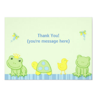 Cartes de note plates de Merci de grenouille de Carton D'invitation 12,7 Cm X 17,78 Cm
