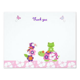 Cartes de note plates de Merci de grenouille Carton D'invitation 10,79 Cm X 13,97 Cm