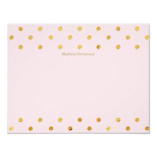 Cartes de note plates faites sur commande chics de carton d'invitation 10,79 cm x 13,97 cm
