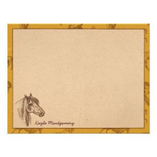 Cartes de note plates personnalisées vintages de c bristol personnalisé