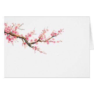 cartes de note quotidiennes de fleurs de cerisier