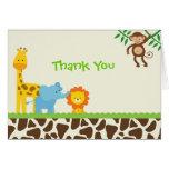 Cartes de notes de Merci de safari de jungle
