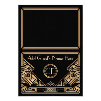Cartes de place d escorte de mariage de style de G Cartons D'invitation Personnalisés