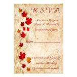 cartes de rsvp de mariage de brun d'automne de chu