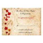 cartes de rsvp de mariage de brun d'automne de chu faire-parts