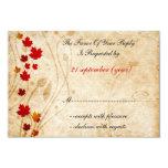 cartes de rsvp de mariage de brun d'automne de faire-parts