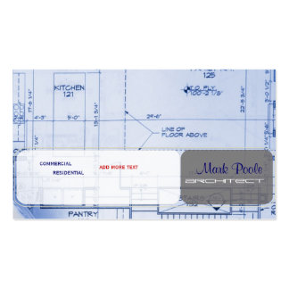 Cartes de visite à la mode d'architecte cartes de visite professionnelles