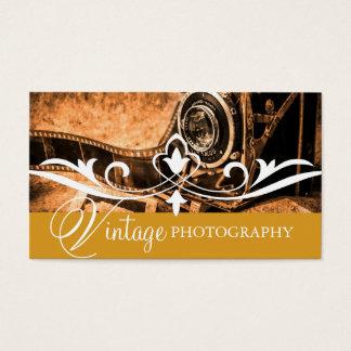 Cartes De Visite Affaires vintages d'appareil-photo de photographie