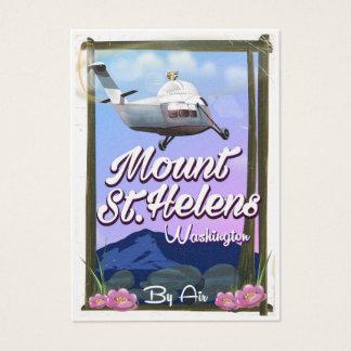 Cartes De Visite Affiche de voyage du Mont Saint Helens Washington